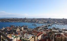 Istanbul de la tour 1 de Galata Photographie stock