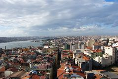 Istanbul de la tour 8 de Galata Photo stock