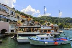ISTANBUL, DIE TÜRKEI, AM 24. AUGUST 2015: Kavagi-Dorf Lizenzfreie Stockbilder