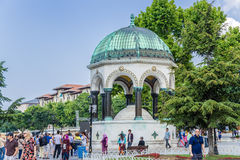 Istanbul, die Türkei Deutscher Brunnen (Brunnen von Wilhelm Ii) im Sultanahmet-Quadrat Lizenzfreie Stockfotos