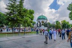 Istanbul, die Türkei Deutscher Brunnen in Sultanahmet-Quadrat (das Hippodrom) Stockfotos