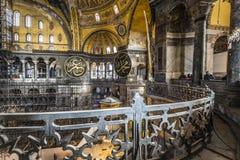 ISTANBUL, DIE TÜRKEI - 13. DEZEMBER 2015: Das Hagia Sophia Stockfotos