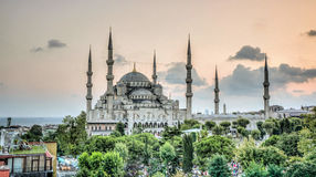Istanbul, die Türkei - 9. Februar 2013: Blaue Moschee Sultanahmet Cami in Sultanahmet, Istanbul, die Türkei Lizenzfreies Stockbild