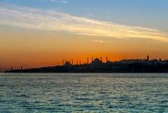 Istanbul, die Türkei, am 23. Januar 2012: Der Topkapi Palast und das Hagia stockfotografie