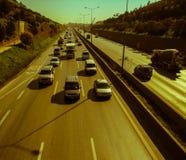 Istanbul, die Türkei - 10. November 2009: Stau auf der Autobahn Lizenzfreie Stockbilder