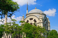 Istanbul Dolmabahce Mosque, Turkey Royalty Free Stock Photos