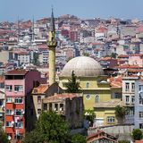 Istanbul downtown city view Royalty Free Stock Images