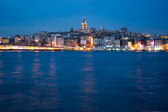Istanbul at dusk Royalty Free Stock Images