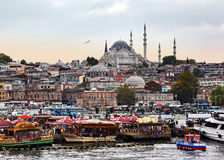 Istanbul at Dusk Stock Images