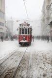 Istanbul an einem schneebedeckten Tag stockfotografie