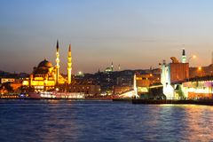Istanbul, Eminonu Harbor Royalty Free Stock Images
