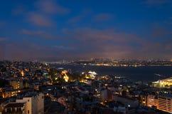 Istanbul et le bosphorus Photographie stock libre de droits