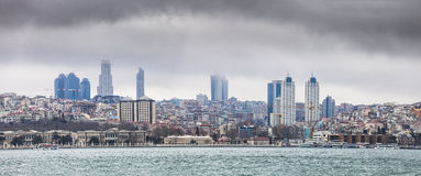 Istanbul European side skyline Royalty Free Stock Photos