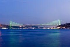 istanbul för bosporus broar kalkon Arkivbild