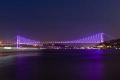 istanbul för bosporus broar kalkon Arkivfoto