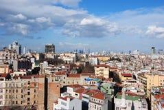 istanbul för galata 2 torn arkivfoto