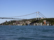 Istanbul with the Fatih Sultan Mehmet Bridge in the background Royalty Free Stock Image