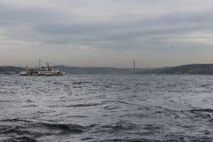 Istanbul - Fatih Sultan Mhmet Bridge royaltyfria bilder