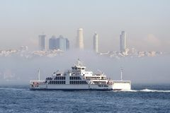 Istanbul and the ferry Stock Photography