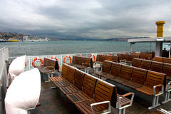 Istanbul ferry deck Stock Photography