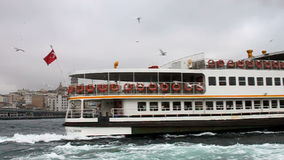 Istanbul ferry stock video footage