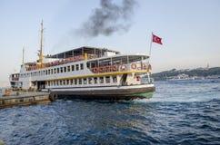 Istanbul, ferry in Karaköy pier Stock Photos