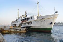 Istanbul, ferry in Karaköy pier Royalty Free Stock Image