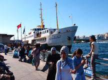 Istanbul ferry royalty free stock images