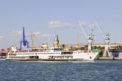 Istanbul - Ferry passing Stock Images