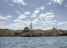 Istanbul - Ferry passing Stock Photo