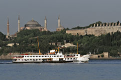 Istanbul - Ferry passing Royalty Free Stock Photography