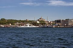 Istanbul - Ferry passing Stock Image