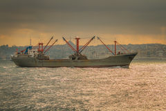 Istanbul ferry sailing in the Sea and Bosphorus Royalty Free Stock Photography