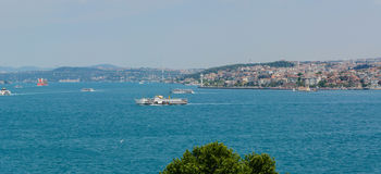 Istanbul ferry sailing in to Bosphorus Sea , , Turkey Royalty Free Stock Image