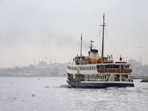Istanbul Ferryboat. The ferryboat from Asian side to Old Istanbul that full filled with the history included Blue Mosque and Hagia Sophia  (see both of them in Royalty Free Stock Photography