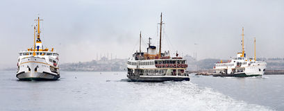 Istanbul ferryboats Stock Photos