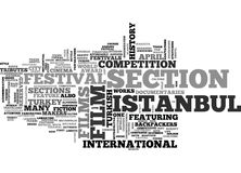Istanbul Film Festival In April Word Cloud Concept Stock Photos