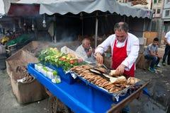 Istanbul fish market Stock Photo