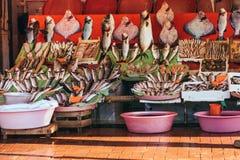 Istanbul fish market Royalty Free Stock Image