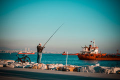 Istanbul fisherman Stock Photos