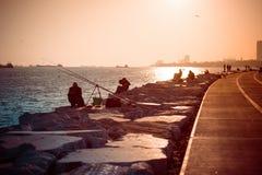 Istanbul fishermen Stock Photos