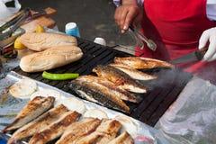 Istanbul fiskmarknad Arkivfoton