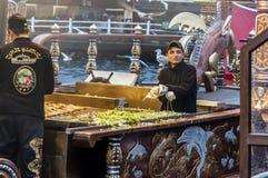 Istanbul fiskmarknad Fotografering för Bildbyråer