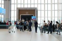 Istanbul-Flughafen, der internationale hauptsächlichflughafen Einstieg, der Istanbuls, die Türkei dient lizenzfreies stockbild
