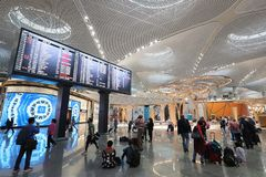 Istanbul-Flughafen, der internationale haupts?chlichflughafen, der Istanbul, die T?rkei dient lizenzfreie stockfotografie