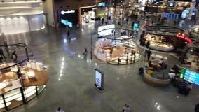 Istanbul flygplatsgalleria och restauranger lager videofilmer