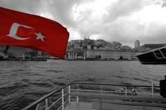 Istanbul från havet Arkivbild