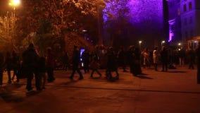 Istanbul//galata το Δεκέμβριο του 2015 πύργων απόθεμα βίντεο