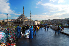 Istanbul - Galata Bridge Royalty Free Stock Photo