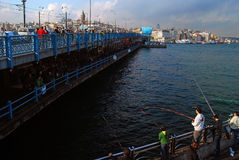 Istanbul - Galata Bridge Stock Photo